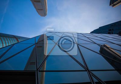 Aussen Aus Glas Geschaftsgebaude Leinwandbilder Bilder Luxus Haus