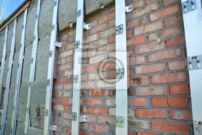 Aussen Haus Isolierung Brick Wall Outdoor Home Isolierung