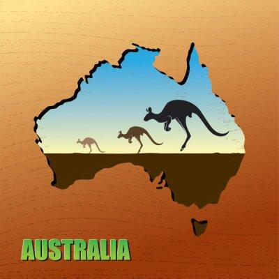 Australian Känguru - Vektor-Illustration