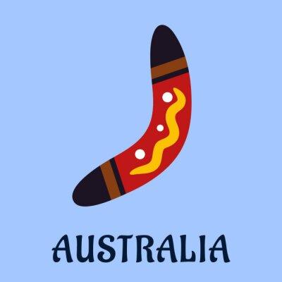 Bild Australian national isolated colorful boomerang