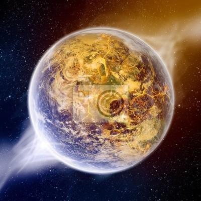 Auswirkung der globalen Erwärmung auf der Erde