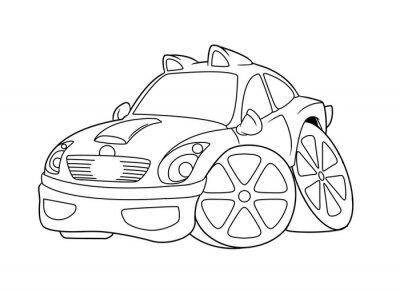 Bild Auto Ausmalbilder Cartoon Isoliert Bild Abbildung