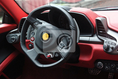 bild auto interieur luxus service auto innenraum details blick auf das innere eines modernen
