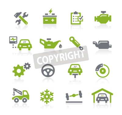 Bild Auto-Service-Ikonen - Natura Reihe