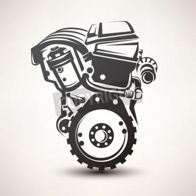 Bild Auto-Symbol, stilisierte Vektor-Silhouette-Symbol