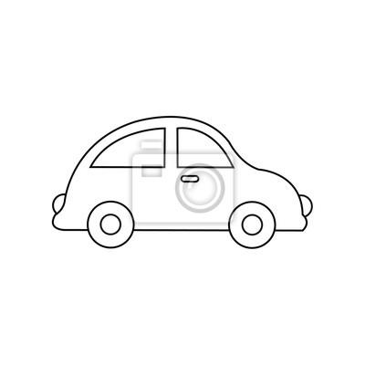 Auto Zeichnung Auto Spielzeug Malvorlagen Fur Kinder Vektorvorrat Leinwandbilder Bilder Krankenwagen Polizei Farben Myloview De