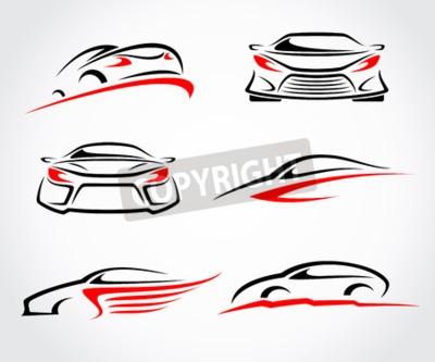 Bild Autos abstrakten Satz. Vektor