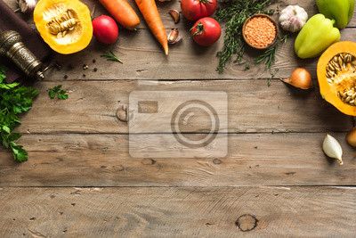 Bild Autumn cooking background