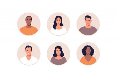 Bild Avatar profile picture icon set including male and female. Vector illustration.