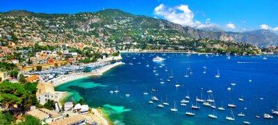 Bild azurblauen Küste Frankreichs - Panoramablick von Nizza