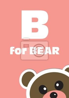 B für den Bär, ein Tier-Alphabet für Kinder