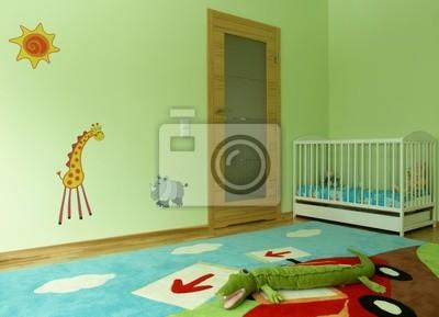 Baby-schlafzimmer leinwandbilder • bilder Kindergarten, Kinderbett ...