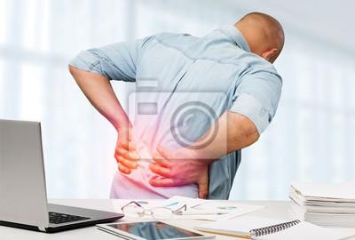 Bild Back pain in office back pain office