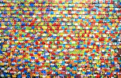 Bild Background color of street graffiti on a brick wall