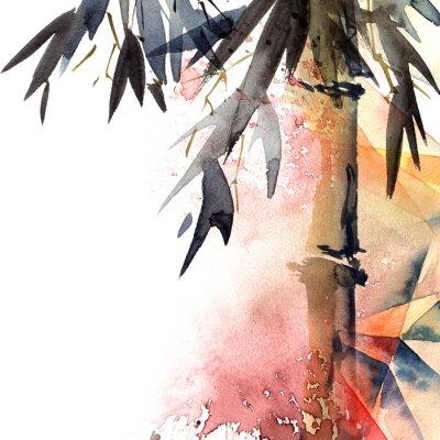 Bild Background with bamboo