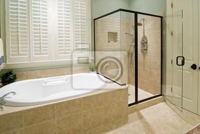 Badezimmer Mit Dusche Und Whirlpool Leinwandbilder Bilder Sanitar
