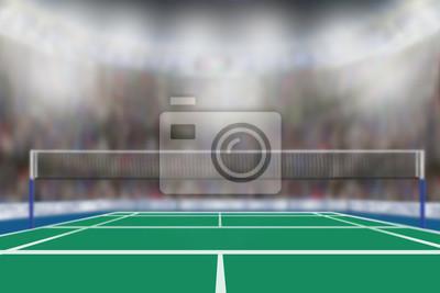 Badminton Arena mit Textfreiraum