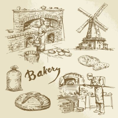 Bild baker, bakery, bread