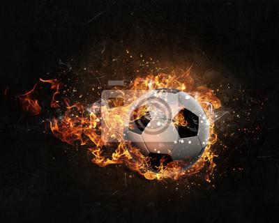 Ball brennen im Feuer