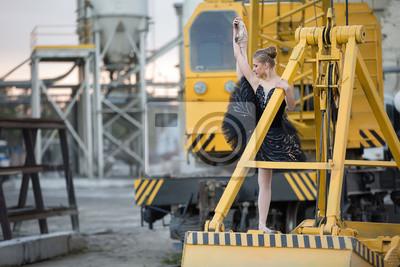 Ballerina auf Pfanne