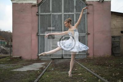 Ballerina im weißen Ballettröckchen