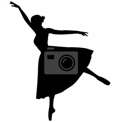Ballerina tänzer silhouette, ballett tanz clipart, ballerina