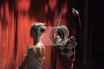 Ballerinas in der Bewegung. Ballettaussage.