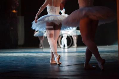 Ballerinas in der Bewegung. Füße von Ballerinen close up.