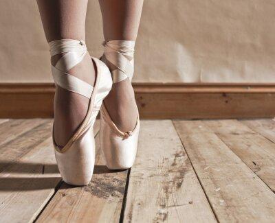 Bild Ballett-Schuhe auf Holzboden