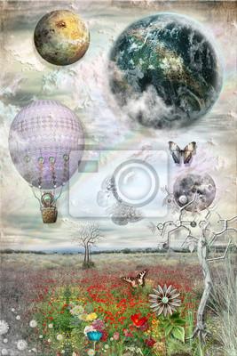 Ballon und Schmetterlinge
