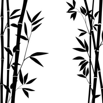 Bild bamboo stems and leaves for graphic design.