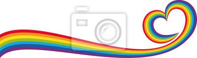 Bild Banner cuore arcobaleno