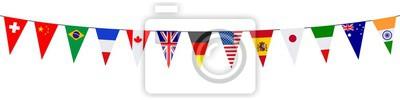 Bild Banner. Girlanden, Wimpel. International