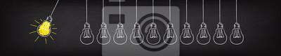 Bild Banner Glühbirne Pendel Idee Konzept