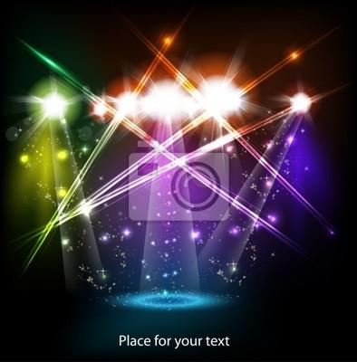 banner Neonlicht Bühnenhintergrund für Ihren Text