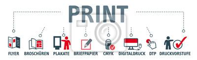 Bild Banner Print Konzept