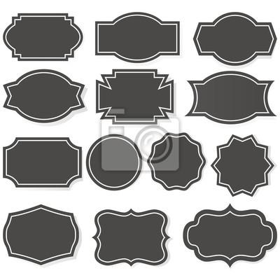 Banner Shapes Set Illustration Vektor