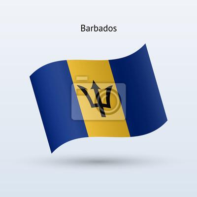 Barbados Fahnenschwingen Form. Vektor-Illustration.
