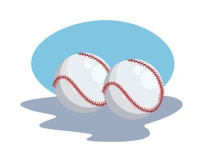 baseball balls sport equipment icons