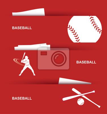 Baseball-Banner - Vektor-Illustration