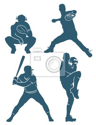 Baseball Positionen - Vektor-Illustration
