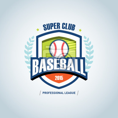 Baseball sport badge logo design template and some elements for ...