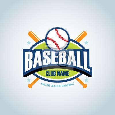 Baseball sportabzeichen logo-design-vorlage und einige elemente ...