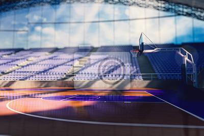 Basketball-Arena machen in blau Tonen