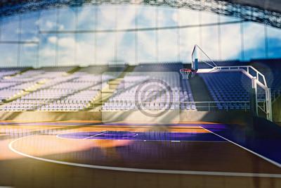 Basketball-Arena machen in orange Tönung