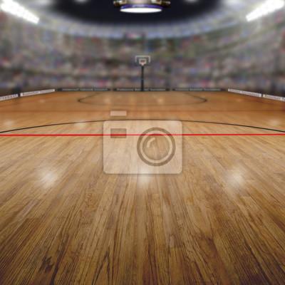 Basketball-Arena Mit Kopie Raum Hintergrund. Übertragen in Photoshop.