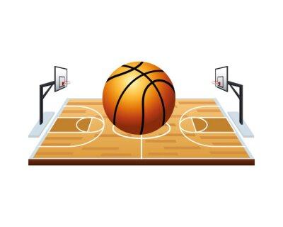 basketball balloon sport in court scene
