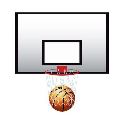 basketball balloon sport with basket