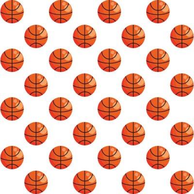 basketball balloons sport pattern background