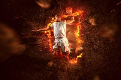 Bild Basketball Player on Fire